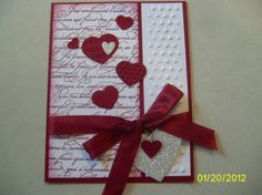 Mary Beth Dagostino  Like this design, paper choice, emboss all come together.