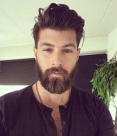 Franggy Yanez, click now for more. Medium Hair Cuts, Medium Hair Styles, Long Hair Styles, Latest Haircuts, Haircuts For Men, Beard Styles For Men, Hair And Beard Styles, Beard Haircut, Style Masculin