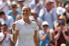Petra Kvitova swept into Wimbledon final with a 7-6 (8/6), 6-1 victory over Lucie Safarova. Petra #Kvitova swept into her second #Wimbledon