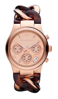 Michael Kors Ladies Rose Gold Chronograph Watch with Twisted Band - on #sale 35% off @ #Lord&Taylor  #MichaelKors