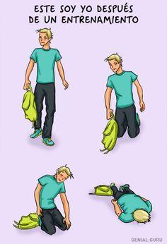 8Ilustraciones que describen tuprimer día enelgimnasio
