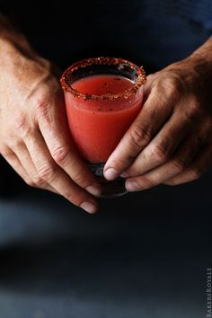 Strawberry and Grapefruit Jalapeno Magarita via Bakers Royale