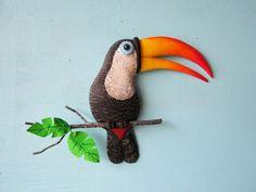 Toucan parrot tropical bird sculpture by artistJP on Etsy
