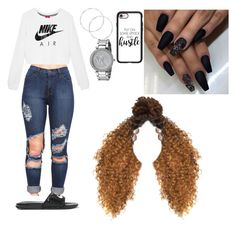 """Untitled #540"" by queen-ayanna on Polyvore featuring NIKE, Michael Kors and Casetify"