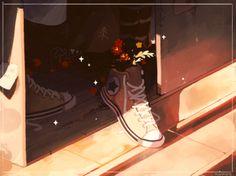 orange juice — flowers will sprout in a dusty closet Aesthetic Anime, Aesthetic Art, Pretty Art, Cute Art, Manga Art, Anime Art, Art Sketches, Art Drawings, Character Art