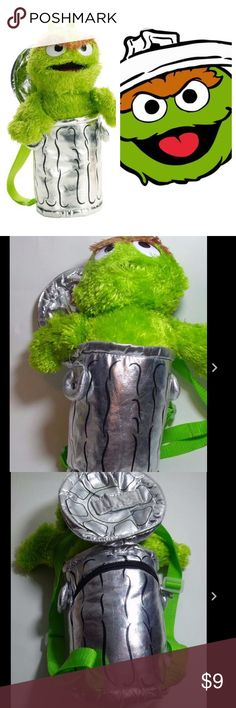 Oscar the grouch backpack Excellent used condition. This is for a child. A teen or adult smaller in stature may be able to use it. Price is firm and I do not do trades. Thank you Accessories Bags
