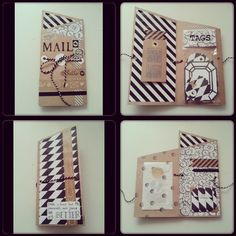 Snail mail made by Tante Tee #B&W #Craft