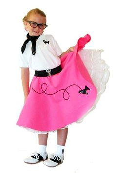 Girls 50's Poodle Skirt this is what im gonna be for halloween this year