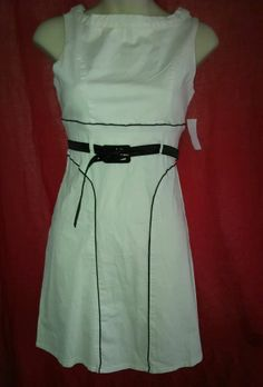 COTTON EXPRESS WOMEN'S SLEEVELESS DRESS WITH BELT Size Small **NEW