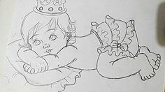Bebe Adult Coloring, Coloring Books, Vegetable Coloring Pages, Relaxing Art, Patchwork Pillow, Painted Books, Pencil Art Drawings, Baby Cartoon, Pictures To Draw