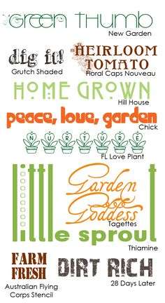 Fonts for Gardening Scrapbook Pages