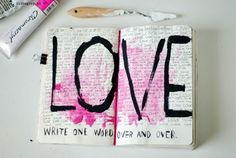 i-like-grey: ----wreck this journal---- write one word over and over