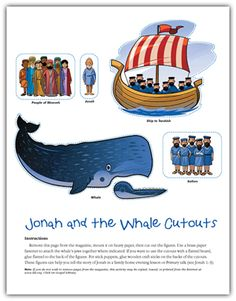"""Family Home Evening - Obedience and the story of Jonah and the Whale.  Goes great with """"W"""" - next week's letter in preschool..."""