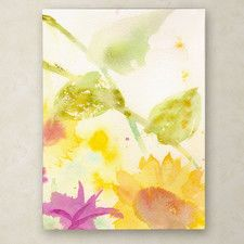 """Wind Sunflowers"" by Sheila Golden Painting Print on Wrapped Canvas"