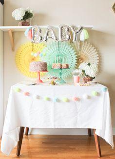Pom Pom Baby Sprinkle — ariel loves Nursery Reading, Pom Pom Mobile, Pom Pom Baby, Baby Sprinkle, Ariel, Tea Party, Sprinkles, Whimsical, Party Ideas