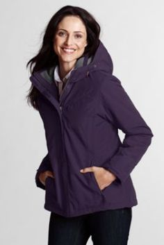 Women's Hooded Squall Jacket from Lands' End