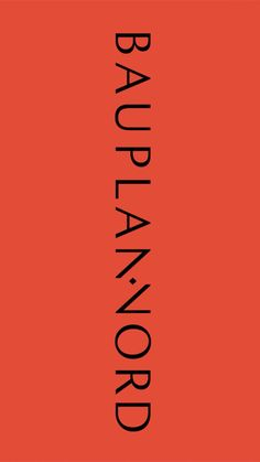 """The word mark was given the flexibility necessary for the demands of contemporary media, all the while maintaining a stability and high standard of quality reflective of the company. The new color scheme is cozy and inviting, complimented by the typography – a combination of Antiqua """"FS Brabo"""" and Grotesque """"Spezia"""". Each individual Bauplan Nord project is given its own unique corporate design, adapted to representing the object's history and location."""