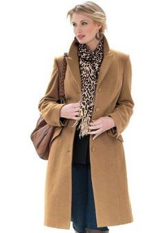 Plus Size Petite 3/4-Length Wool Coat (Garden Spruce,22 P) BCO. $59.99