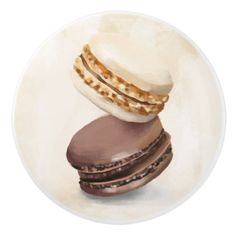 Chocolate Macaroons Ceramic Knob - trendy gifts cool gift ideas customize