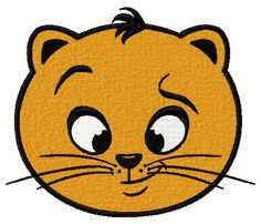 Ironic cat face machine embroidery design. Machine embroidery design. www.embroideres.com