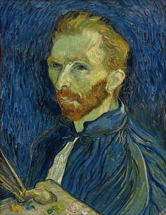 Self-Portrait, by Vincent van Gogh. Oil on canvas, 1889.