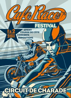 My two loves... Graphic Design & Motorcycles. Cool poster!