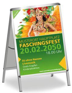 Farbenfrohe Plakate und Poster nach eigenen Wünschen gestalten #onlineprintxxl #onlinedruckerei #gutundgünstig #fasching #farbenfrohesplakat #tänzerin