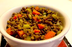 French Green Lentils are firm and flavorful. They look brown, but they are tiny, green lentils. The best ones for salads. www.recipeideashop.com