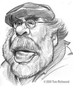 film director Francis Ford Coppola (by Tom Richmond) ★ || *Please support the artists and studios featured here by buying this and other artworks in their official online stores • Find us on www.facebook.com/CharacterDesignReferences | www.pinterest.com/characterdesigh | www.characterdesignreferences.tumblr.com | www.youtube.com/user/CharacterDesignTV and learn more about #concept #art #animation #anime #comics || ★