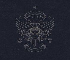 Creative Logo, Design, Hermetic, Tarot, and Symbols image ideas & inspiration on Designspiration Typography Logo, Art Logo, Logos, Graphic Design Illustration, Illustration Art, Hermetic Tarot, Plakat Design, Tattoo Style, Psy Art