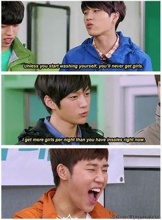 Burn! ahh poor woohyun<3