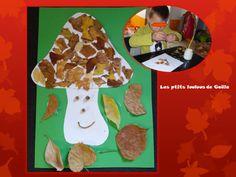 Bricolage enfants pour l'automne. Un champignon