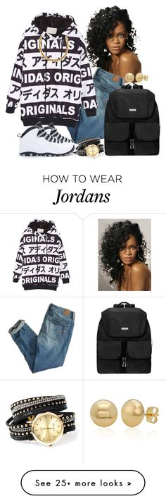 """""""Black and white"""" by china-dolly on Polyvore featuring American Eagle Outfitters, NIKE, Baggallini and Belk & Co."""