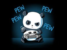 He may have tiny paws, but he's not just button mashing. Get the Pew Pew Panda t-shirt only at TeeTurtle!