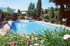 A swimming pool is often on the wish list for the backyard but may not be on the reno budget for several years. If you're landscaping from scratch and you would like a pool in your backyard down the track, make spacefor it as you lay out the garden. The future pool site should be earmarked for temporary gardens oras a play area, but don't plant treesor erect any structures that will be difficult or expensive to remove.