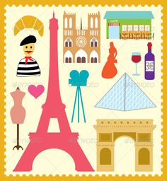 Paris France Element $4 only  http://graphicriver.net/item/paris-france-element/4555652?WT.ac=portfolio&WT.z_author=shasuw