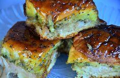 Turkey, Pesto, Onion & Cheese Poppyseed Sliders
