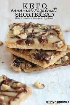 These Keto Shortbread cookies are layered with caramel and hazelnuts for the ultimate low-carb treat. This recipe is included in my Complete Keto Holiday Cookbook, which is free, and releases…More 12 Easy Sugar Free Dessert Recipes Desserts Keto, Keto Friendly Desserts, Keto Snacks, Dessert Recipes, Fruit Dessert, Breakfast Dessert, Quick Dessert, Breakfast Cookies, Brownie Recipes