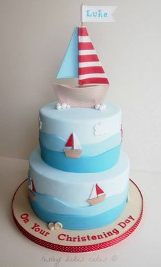 Tiered Boys Sailor Cake.
