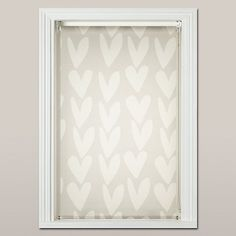 Buy Caroline Gardner Hearts Sheer Roller Blind, White Online at johnlewis.com