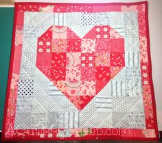 Pennant Quilt - FinishStash Building and Pennant QuiltBe My Valentine...Pretty heart...Quilt Sampler