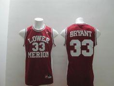 Lower Merion High School #33 Kobe Bryant Red Jersey