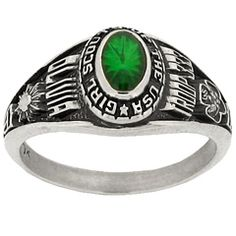 A Girl Scout ring designed like a traditional class ring! Cute! #GirlScouts