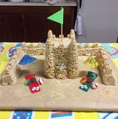 Rice crispy sand castle