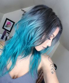 shades of blue | hair colors