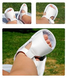 Baby Sandals - DIY- Free pdf pattern (click DESCARGAR for it) and very detailed step by step Photo tutorial - Bildanleitung und gratis Schnittvorlage