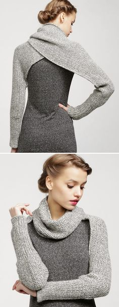 Sleeve Wrap Sweater- I'm sure there is a way to knock this off.  Maybe using a revising an old sweater.  Hmmmm...