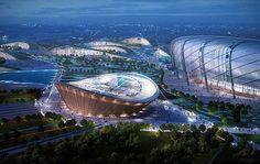 The Style Examiner: IAD unveils masterplan for 2015 Pan-African Games in Brazzaville, Congo Congo River, African Crafts, Sports Complex, African Textiles, Thinking Day, Construction, Building Exterior, Master Plan, New Perspective