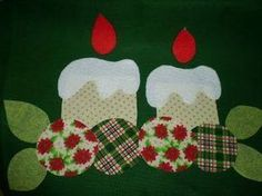 Resultado de imagen para pano de prato com aplique em patchwork