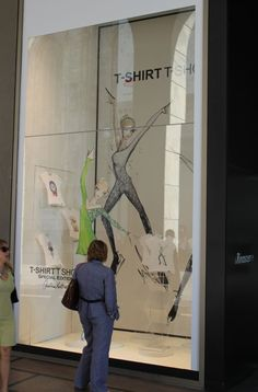 Windows in La Rinascente Milan Department Store